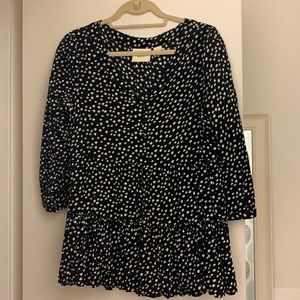 Anthropologie Maeve Black and White Tunic - M